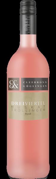 Dreiviertel Muskattrollinger Rosé