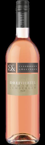 Dreiviertel Samtrot mit Lemberger Rosé
